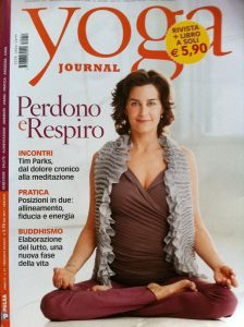 Yoga Journal Italy January 2012 Cover